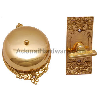 Bartholomew Brass Manual Old Fashion Door Bell