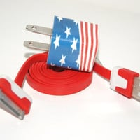 American flag iPhone Charger  ( 3 In 1 charger )