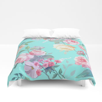 Floral pattern Duvet Cover by Printapix