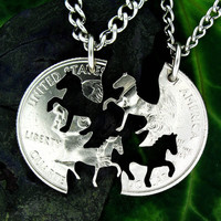 Interlocking Horse Relationship Coin [SDReH5] - $34.99 : Classic Coins & Rings LLC, Name Coins & Rings