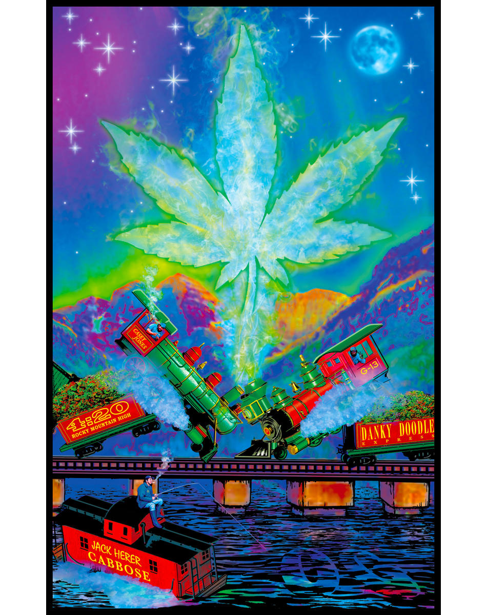 Train Wreck Blacklight Poster From Spencers Gifts