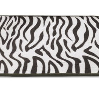 "Memory Foam Bathroom Rug With Tan/Ivory Zebra Pattern, 17"" x 24"""