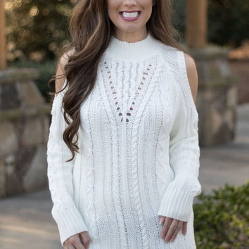 Sultry Cold Shoulder Sweater