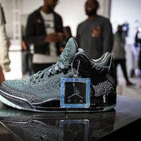 "[Free Shipping ]2018 Nike Air Jordan 3 Retro "" Black Flyknit"" AQ1005-001 Basketball Sneaker"