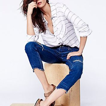 Free People Womens Destroyed Ankle Skinny