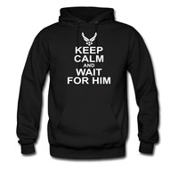 keep calm and wait for him airforce hoodie sweatshirt tshirt