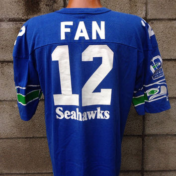 Seattle Seahawks Shirt Vintage Jersey 12th Man Fan 12 1980s NFL d54bd2ec6