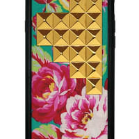 Teal Rose Gold Studded Pyramid iPhone 6/6s Case