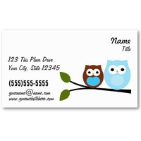 2 Blue Owls Bussiness Cards Business Cards from Zazzle.com