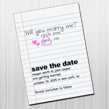 Love Note Save the Date - Printable DIY Save the Date