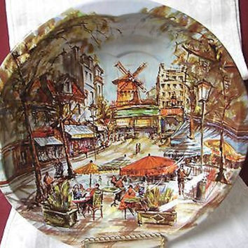 Vintage Daher Decorated ware 1971 made in England Reg # 951942 Windmill Tin bowl
