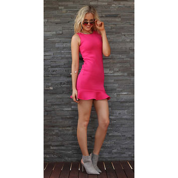 TING-A-LING Tiffany Dress - Flamingo Pink