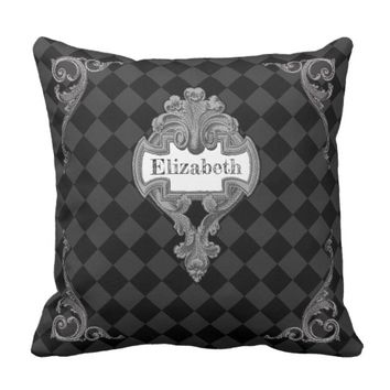 Vintage Steampunk Personalized Throw Pillow
