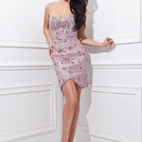 Tony Bowls TS21473 - Purple Strapless Lace Cocktail Dresses Online