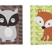 Foxy & Friends Canvas Wall Art - Set of 2 Image - far1010bed3 - Type 1