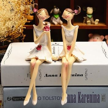 Angel/Fairy Resin Figurines; 2 Pcs/Set