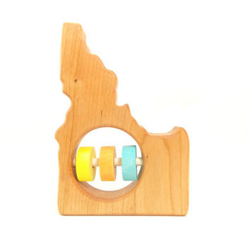Idaho Baby Rattle - Modern Wooden Baby Toy - Organic and Natural