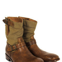 Belstaff Barkmaster Canvas Antique Cuero Boots at Coggles.com online store