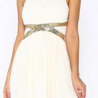 Fancy That Dress - White and Gold