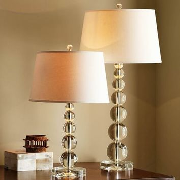 Stacked Crystal Table & Bedside Lamp Base