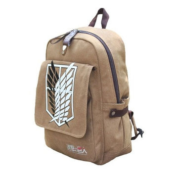 Attack on titan Shingeki no Kyojin Anime Cosplay Backpack Schoolbag [8081689863]