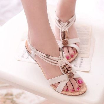 Women Wedge Sandals Shoes Women Summer Sandals 2016 New Ankle-strap Gladiator Sandals