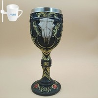 1 Pc Ox-head Goblet Stainless Steel Red Wine Cup Glasses Glass Steins Drinking Glass Whiskey