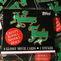 Addams Family Topps 1991 Trading Cards