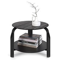 Scale Side Table Ebony & Ivory / Black