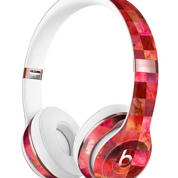 Red Watercolor Patchwork Full-Body Skin Kit for the Beats by Dre Solo 3 Wireless Headphones