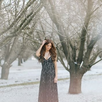 Janelle Black Lace Maxi Dress