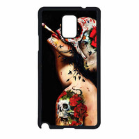 Floral Sugar Skull Tattooed Samsung Galaxy Note 4 Case
