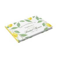 Modern Lemon Boho Summer Bridal Shower Guest Book