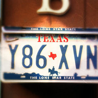 "Upcycled Wall Mount Texas ""Lone Star State"" License Plate Mailbox"