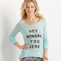 Aeropostale  Long Sleeve Jerk Knit Top