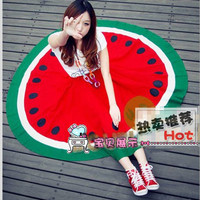 Colorful Summer Style Watermelon Pattern Long Swing Skirt