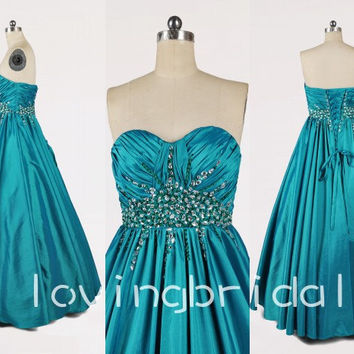 Long A-line Lovely Sweetheart Shinning Crystal Strapless Bandage Formal Party Evening/Prom/Bridesmaid dresses