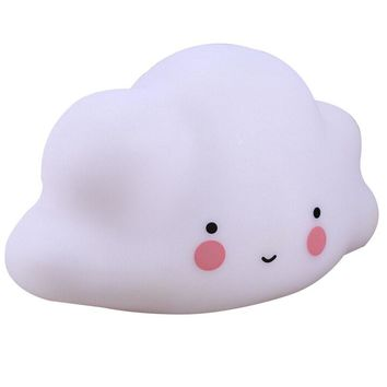 Cute Mini Lamps White Cloud Led Night Light With Timer Kids Children Bedroom Nursery Room Decor Baby Gift Light