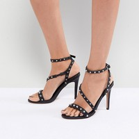 ASOS HACKER Studded Heeled Sandals at asos.com