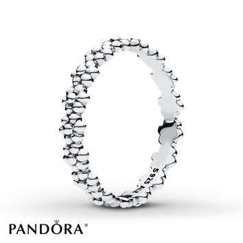 PANDORA Ring of Daisies Sterling Silver