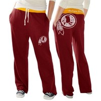 Washington Redskins Ladies Recruit Fleece Pants - Burgundy