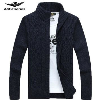 MSA Signature autumn and winter fashion men's long-sleeved sweater latest Battlefield Jeep casual men's cardigan sweater 80
