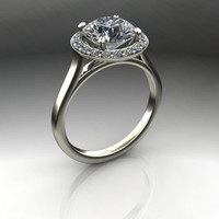 Forever Brilliant Moissanite Halo Engagement Ring 2.75 CTW
