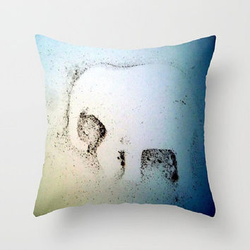 Elephant Dust, whimsical, elephant decor - Decorative Throw Pillow Cover, 3 Sizes Available - Home, Gift, Black, White-Made To Order - ED#78