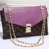 Perfect LV Women Shopping Leather Crossbody Satchel Shoulder Bag