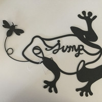 Iron Frog Wall Plaque