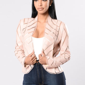Taking Care Of Business Jacket - Dark Pink
