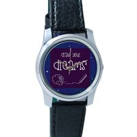 Draw Your Dreams Illustration Wrist Watch