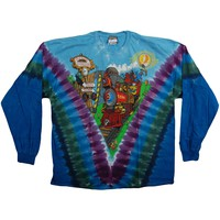 Grateful Dead Men's  Casey Jones Tie Dye  Long Sleeve Multi