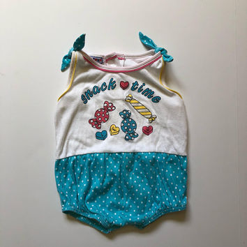 1980's Pastel Candy Romper (2t)